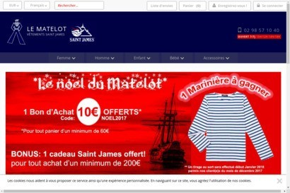 Boutique de vetements marins saint james - le matelot