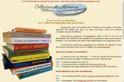 Collecteur de memoires - biographe familial