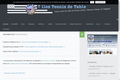 Les 7 iles tennis de table