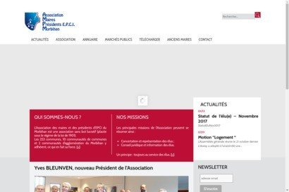 Le site internet de l Association des Maires du Morbihan
