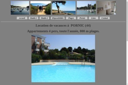 Locations Appartements PORNIC (44) piscine (4 personnes)