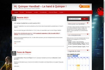 Site de L A.L.Quimper [section handball]