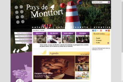 Site officiel de l office de tourisme du pays de Montfort