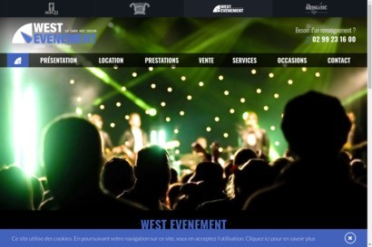 West evenement sonorisation eclairage video structure