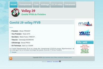 Comiti dipartemental volley 29