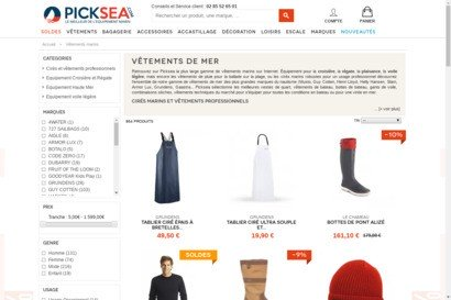 Picksea - vetements de mer - equipement marin